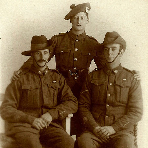 Alex Reid Left and John Reid Centre and unknown Dundee WW1